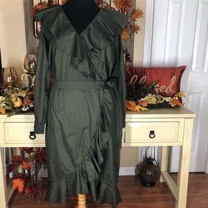 Lane Bryant| women's Plus Size ruffle dress